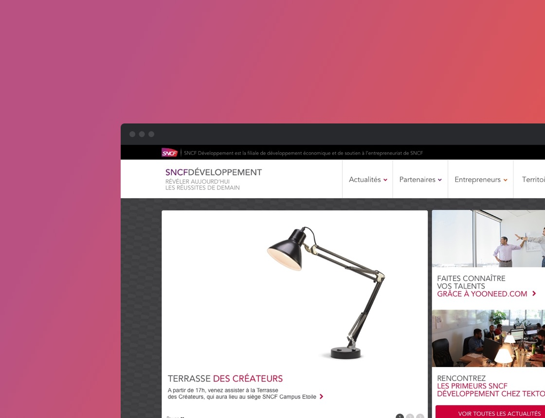 SNCF Developpement <span>Design  web</span>