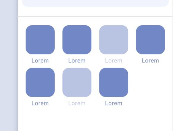 Des apps affichées mais grisées quand celles-ci ne sont pas compatibles.